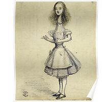 Vintage famous art - Alice In Wonderland - Curiouser And Curiouser Poster