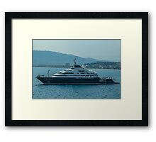 Ocean Cruiser moored at Cannes Framed Print