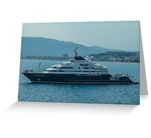 Ocean Cruiser moored at Cannes Greeting Card