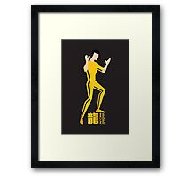 Yellow Jumpsuit Framed Print