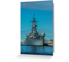 USS Missouri Greeting Card
