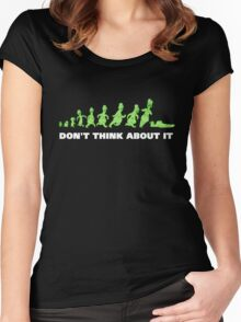 Rick and Morty - Don't think about it! Women's Fitted Scoop T-Shirt