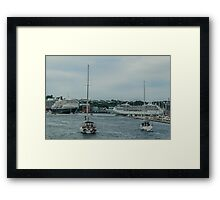 Sailing Ships and Ocean Liners Framed Print