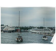 Sailing Ships and Ocean Liners Poster