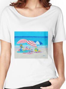 Beach painting - Summer Beach Vacation Women's Relaxed Fit T-Shirt