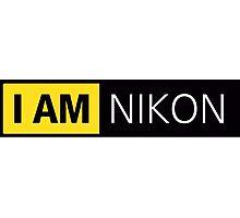i am nikon black Photographic Print