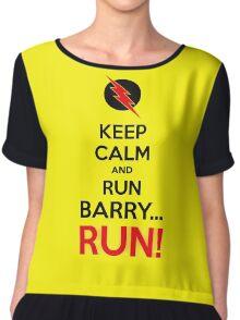 RUN BARRY RUN (The Reverse)! Chiffon Top