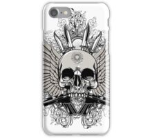 Winged Skull With Guns iPhone Case/Skin