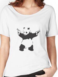 Panda the Gunslinger Women's Relaxed Fit T-Shirt