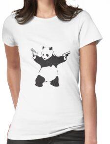 Panda the Gunslinger Womens Fitted T-Shirt