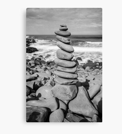 Stone Stacking Sculpture Canvas Print