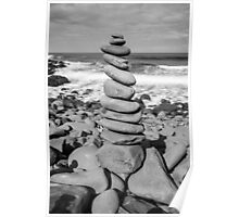 Stone Stacking Sculpture Poster