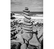 Stone Stacking Sculpture Photographic Print