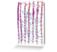 Continuous Line Drawing on Purple & Blue  Greeting Card