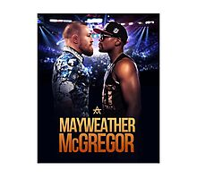 Floyd Mayweather Vs Conor McGregor (T-shirt, Phone Case & more) Photographic Print