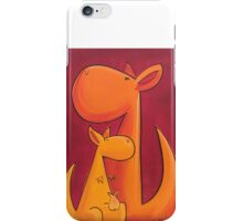 Splatter Mob (Kangaroos) iPhone Case/Skin