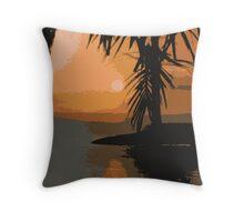 Cartoony Koolan Sunrise Throw Pillow