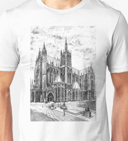 X century Cathedral in Metz, France Unisex T-Shirt