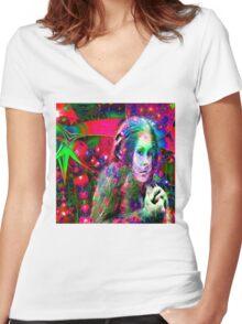 Alien Jungle  Women's Fitted V-Neck T-Shirt