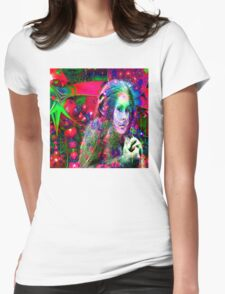 Alien Jungle  Womens Fitted T-Shirt