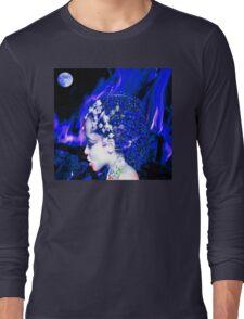 Blue Goddess Long Sleeve T-Shirt