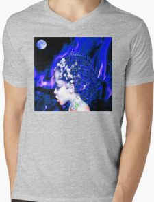 Blue Goddess Mens V-Neck T-Shirt