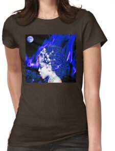 Blue Goddess Womens Fitted T-Shirt