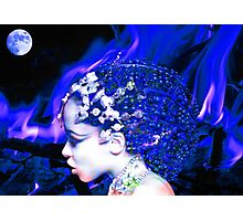 Blue Goddess Photographic Print