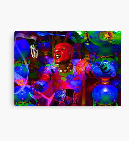 African Knight Canvas Print