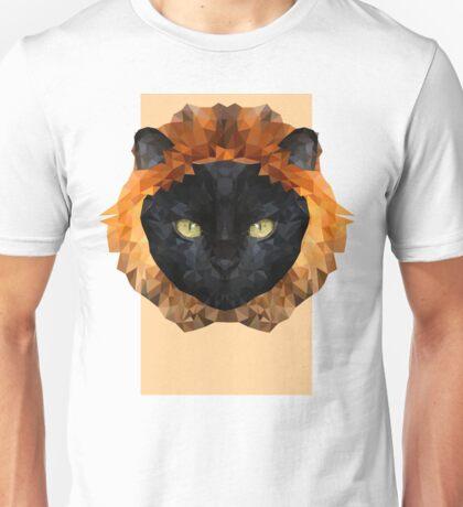 black cat lion digital design  Unisex T-Shirt