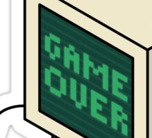Game Over CRT Sticker