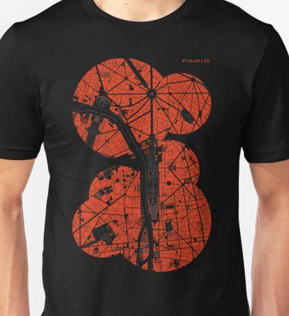 Paris city map classic Unisex T-Shirt