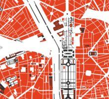 Paris city map classic Sticker