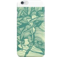 Ladybird Garden, Green iPhone Case/Skin