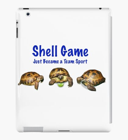 Tortoises Playing the Shell Game iPad Case/Skin