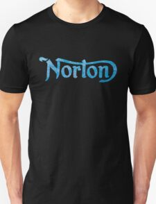 NORTON LOGO BLUE WEATHERED DISTRESSED FINISH VINTAGE T-Shirt
