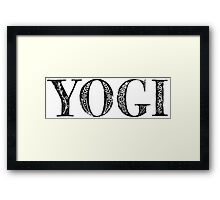 Serif Stamp Type - Yogi Framed Print