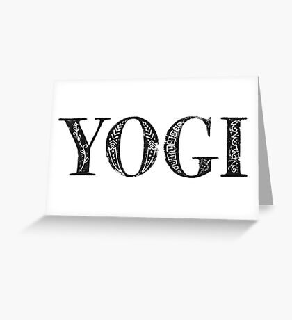 Serif Stamp Type - Yogi Greeting Card
