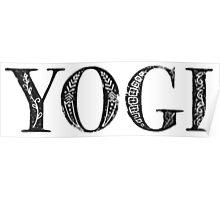 Serif Stamp Type - Yogi Poster