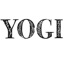 Serif Stamp Type - Yogi Photographic Print