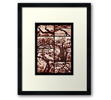 African Shadow Trees Framed Print