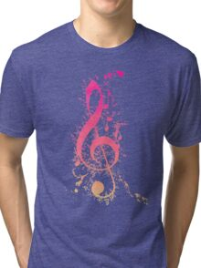 Musical Expression Watercolor Art Tri-blend T-Shirt