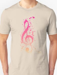 Musical Expression Watercolor Art Unisex T-Shirt