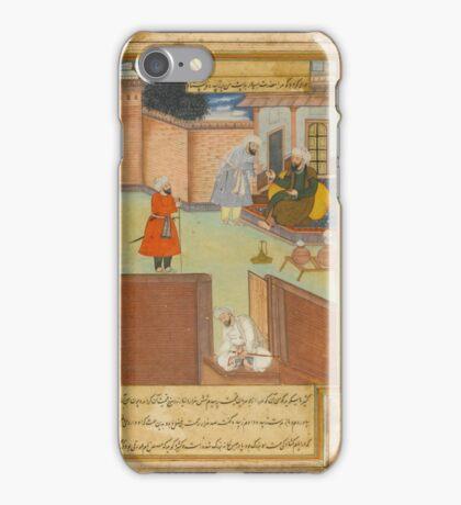 Yahya Ibn Khalid al-Barmaki returning the jewel sent to him by Zubayda, the wife of Harun al-Rashid, India, Mughal iPhone Case/Skin