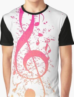 Musical Expression Watercolor Art Graphic T-Shirt