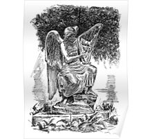 An angel playing harp Poster