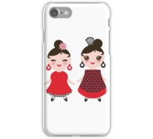 Flamencas in red and black iPhone Case/Skin