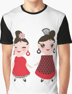 Flamencas in red and black Graphic T-Shirt
