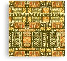 Tribal, African Pattern, Geometric, Shapes,  Canvas Print