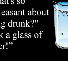 Hitchhiker's Guide to the Galaxy drinking quote Sticker